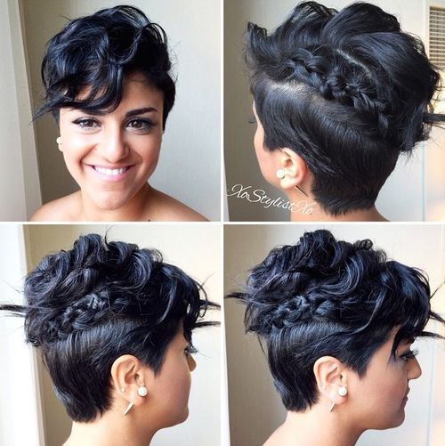Undercut braid hairstyle for women