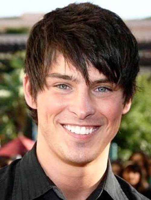 Eye Covering Bangs Might Not Be The Best Haircuts For Men With Round Faces  Since They Make The Face Visually Shorter. You Will Need To Choose Between  Very ...