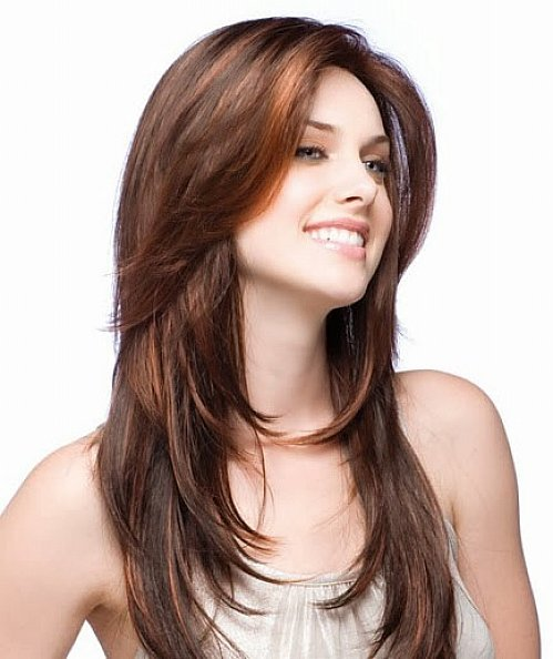 beautiful Red highlights hairstyle for women