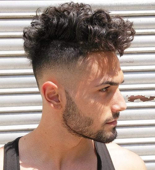 Tapered fohawk curl hairstyle you like