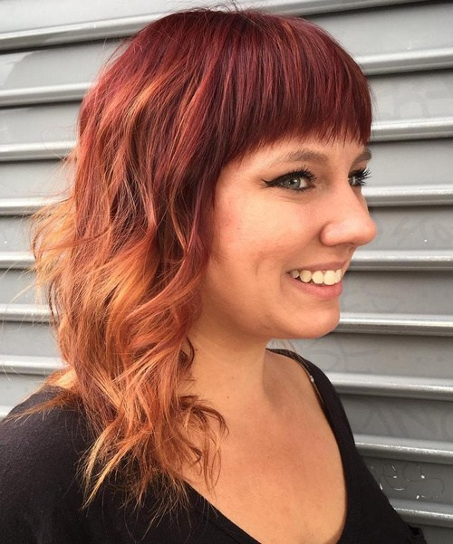cherry hair ombre colors
