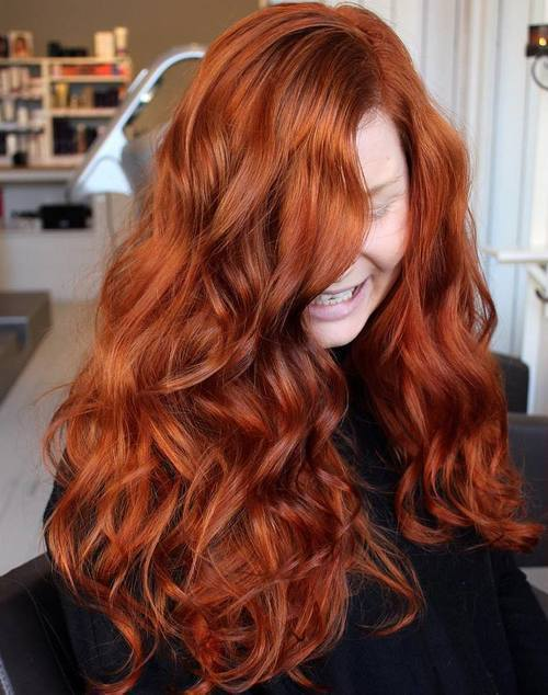 Long Red Hair Color Ideas Best Makeup For Dark And Green Eyes Mugeek Vidalondon
