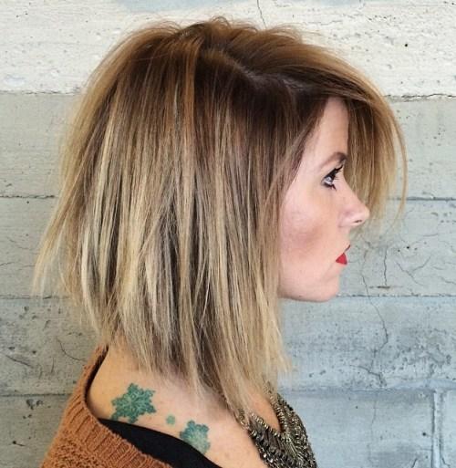 Balayage short hair for girl
