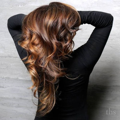 medium and chocolate brown flow hairstyles for women