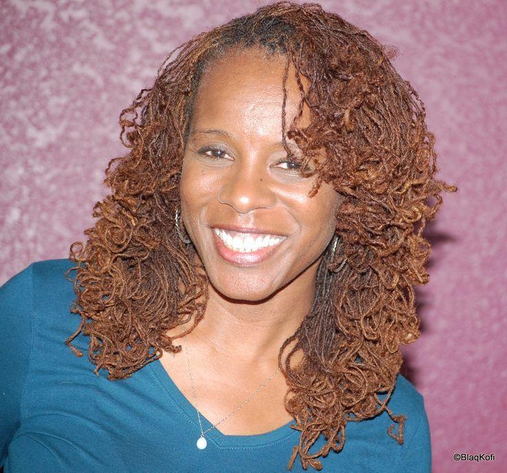 Light sisterlocks hairstyle for black women
