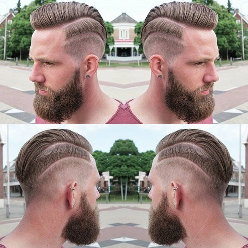 Comb over fohawk hairstyle