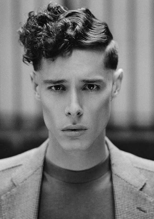 Waves and Pompadour Curls hairstyle for young boy