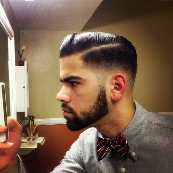 Pompadour with a Quiff Combs hairstyle for men