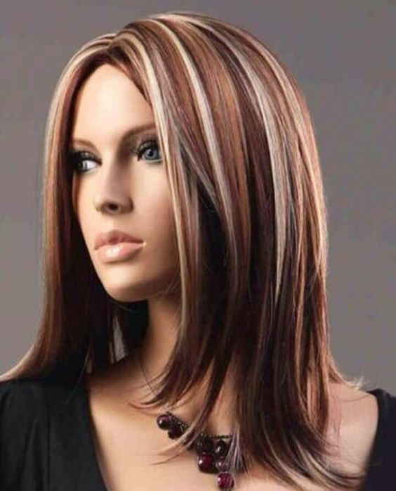 50 epic red highlights on black brown blonde hair 2017 copper and blonde highlights look amazing together but if it seems too dull for you consider adding some burgundy strands dont make them too obvious but urmus Images