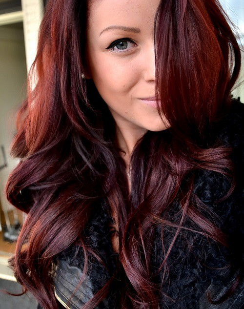 75 Epic Red Highlights On Black Brown Blonde Hair 2018