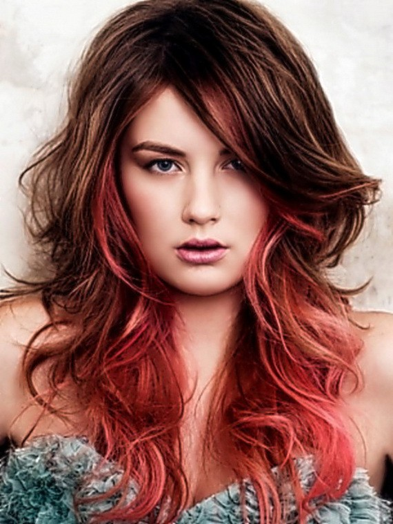 Pink Tainted Copper Hair Color