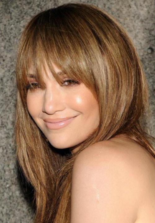 Golden chestnut brown blonde cut