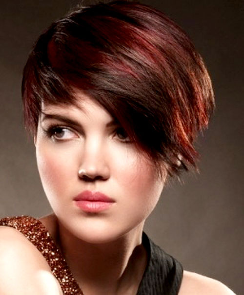Black Short Hair With Red Highlights Best Short Hair Styles