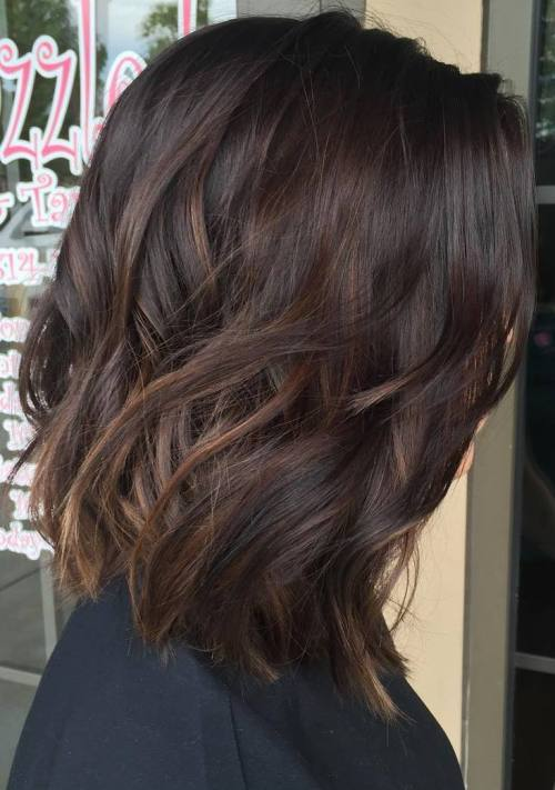 low balayage hair color idea