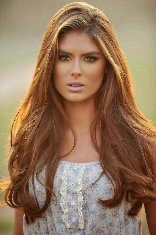 Light & Dark Reddish brown Hairstyle for girl