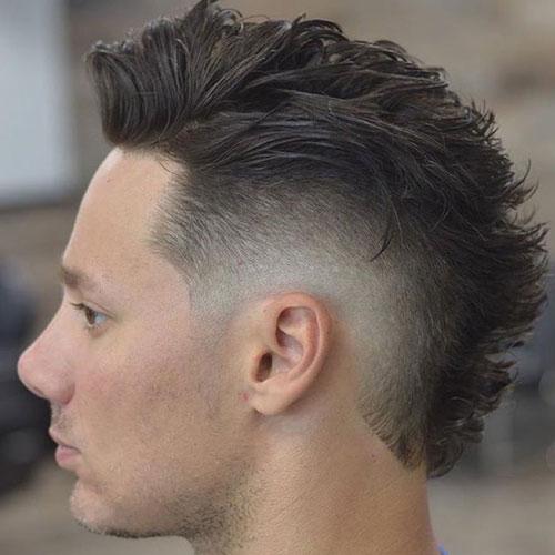 7 unique short faux hawk haircuts for men to try in 2017 long fade faux hawk haircut urmus Gallery