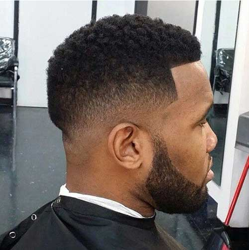 Small Afro with Line Up short hairstyle