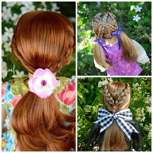 Cross braids American Girl Doll haircut