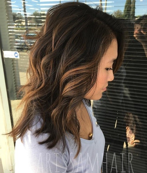 50 light dark brown hair colors for smart girls hair its hard to make the right highlight transition to look smooth thats why you might want to think about this careless style a few highlights pmusecretfo Image collections