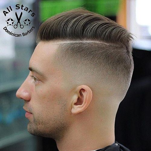 High Taper Fade Haircut With Comb Over Hairstyle
