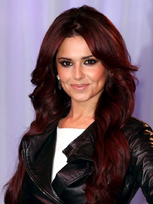 Mahogany red hairstyle for women