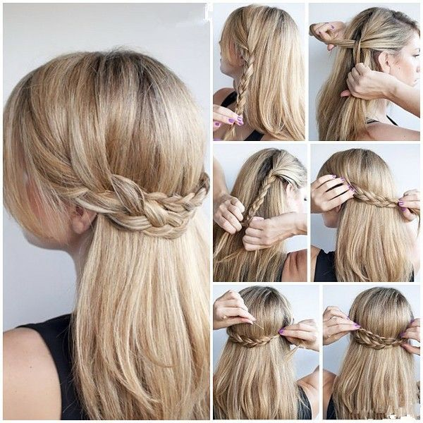 Thick braid hairstyle for girl