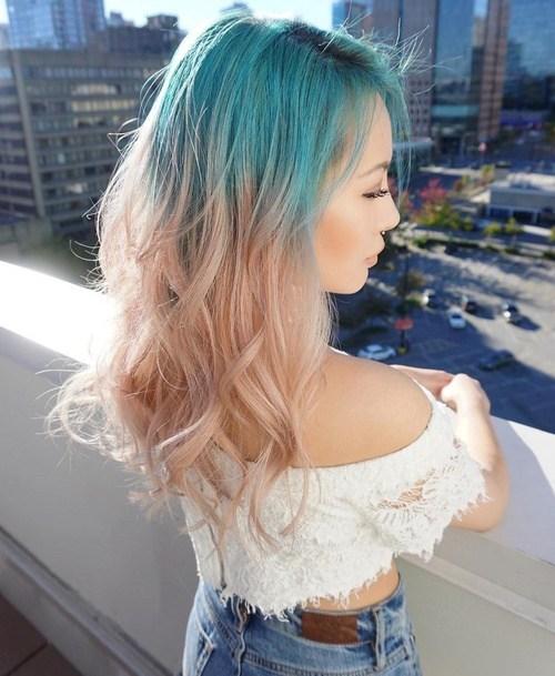 crazy colors ombre hair