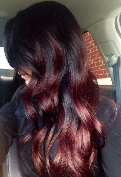 50 epic red highlights on black brown blonde hair 2017 red highlights on light mahogany brown pmusecretfo Images