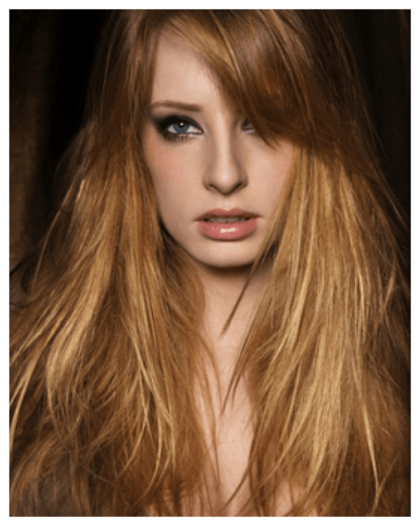 golden blonde hairstyle for girl