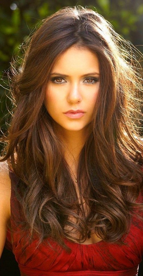 sweet girls for chestnut brown hair color