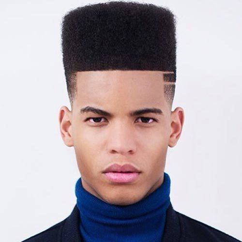 black men Flat top hairstyle