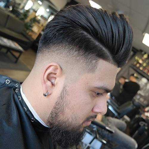 High and stylish taper long hairstyle for men