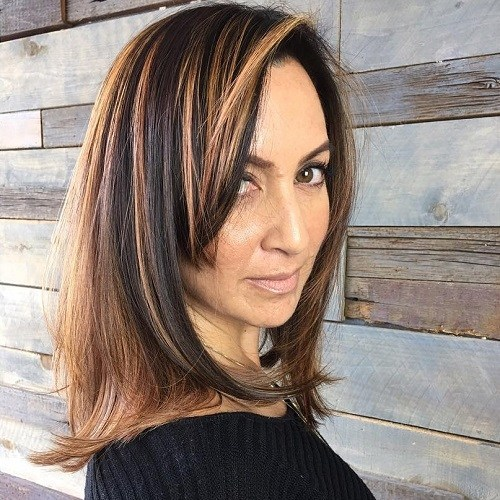 women best Elegant highlights haircut