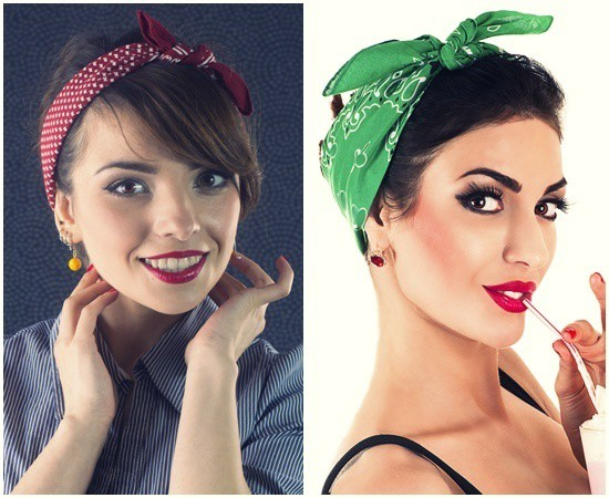 hairstyle with bandans accessory