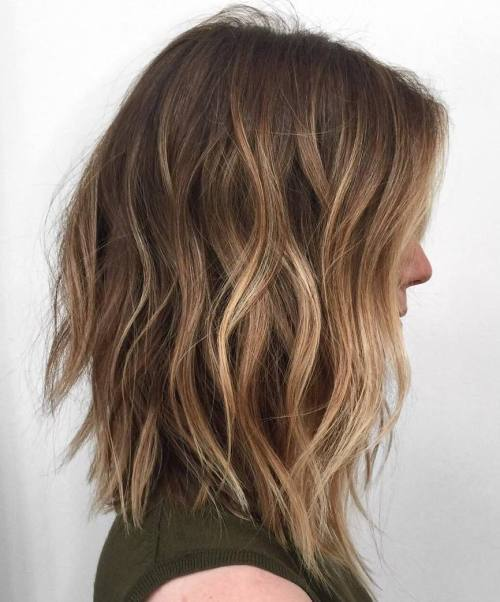 Wavy ombre balayage Hair