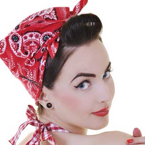 Kerchief bandans hairstyle