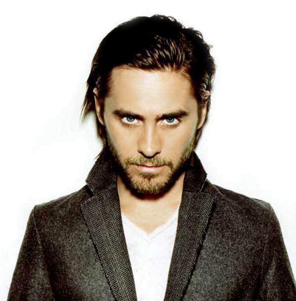 Jared Leto Mid-Length Slicked Back Style