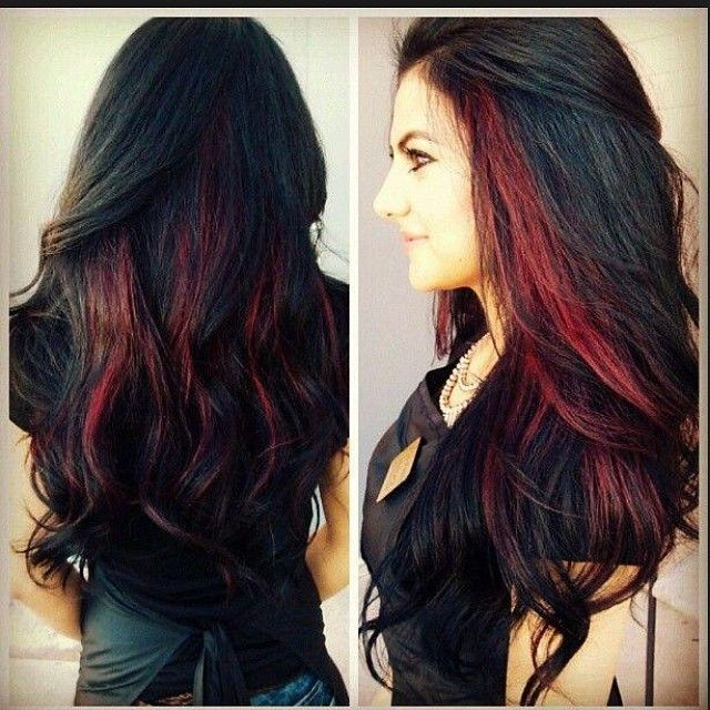 25 Red Highlights On Black Hair To Gear Up Your Style Hairstylevill