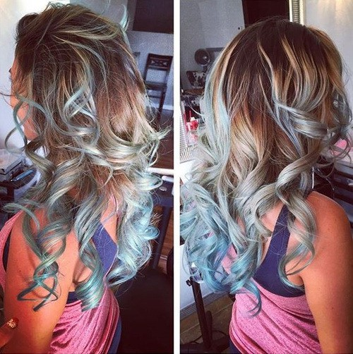 Crazy colors blonde cut for girl