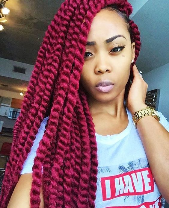 Wild colors hairstyle for black girl