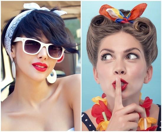 12 Glamorous Short Hairstyles Using Bandanas – HairstyleCamp