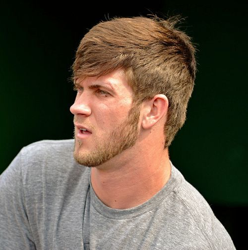 10 Bryce Harper Haircuts For Sporty Men Hairstylecamp