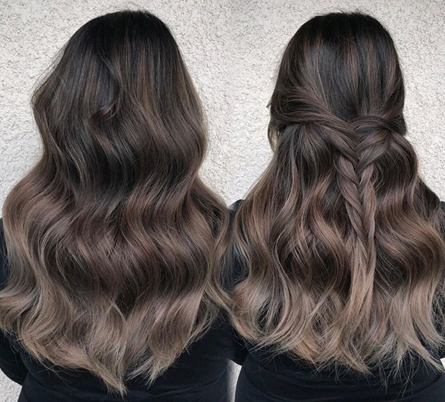 Ombre With Ash Brown Hair Color