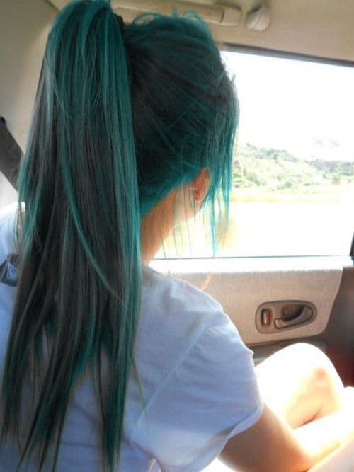 Gray Teal Hair Color For