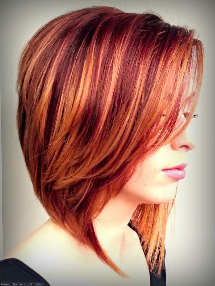 14 sunny copper red hair colors for bright gals hairstylecamp copper with orange highlights hair color idea pmusecretfo Gallery