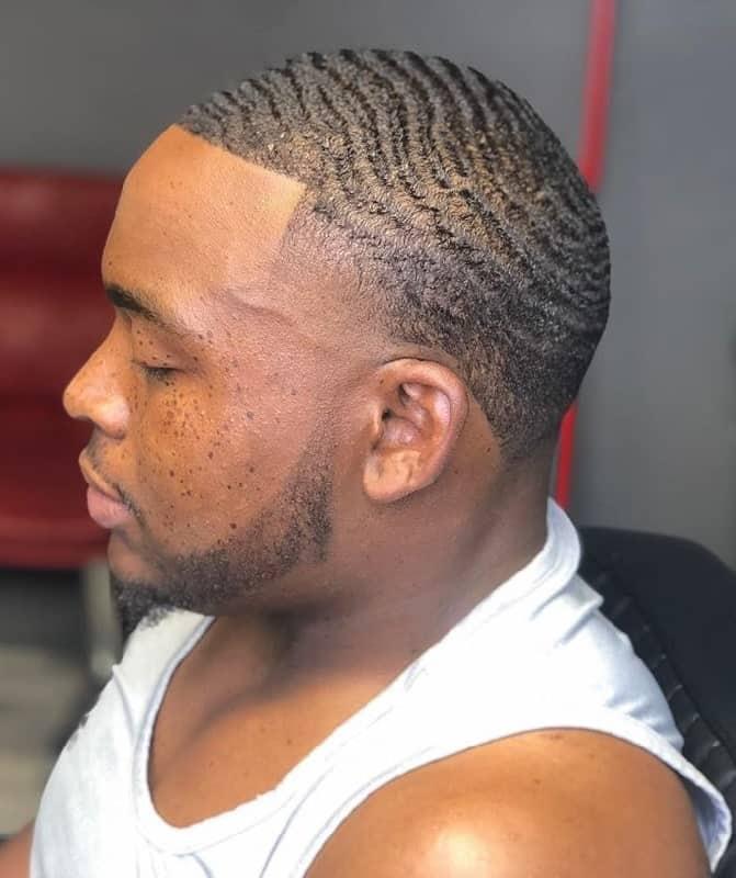 360 waves haircut for black guys