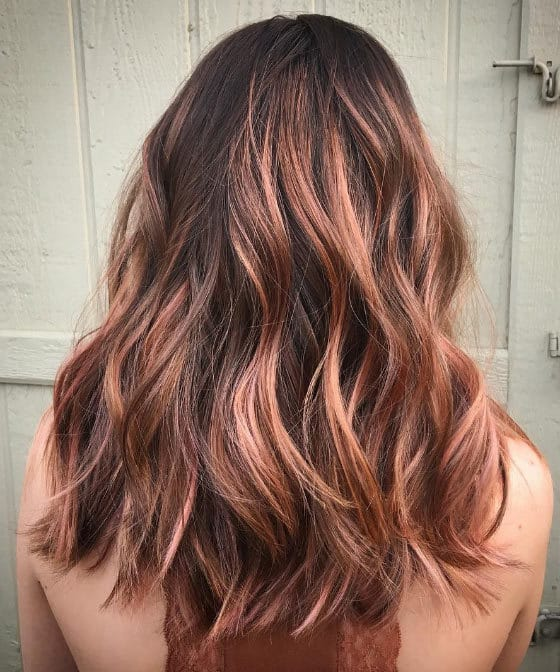 10 Lavish Rose Gold Balayage Hair Color Ideas Hairstylecamp