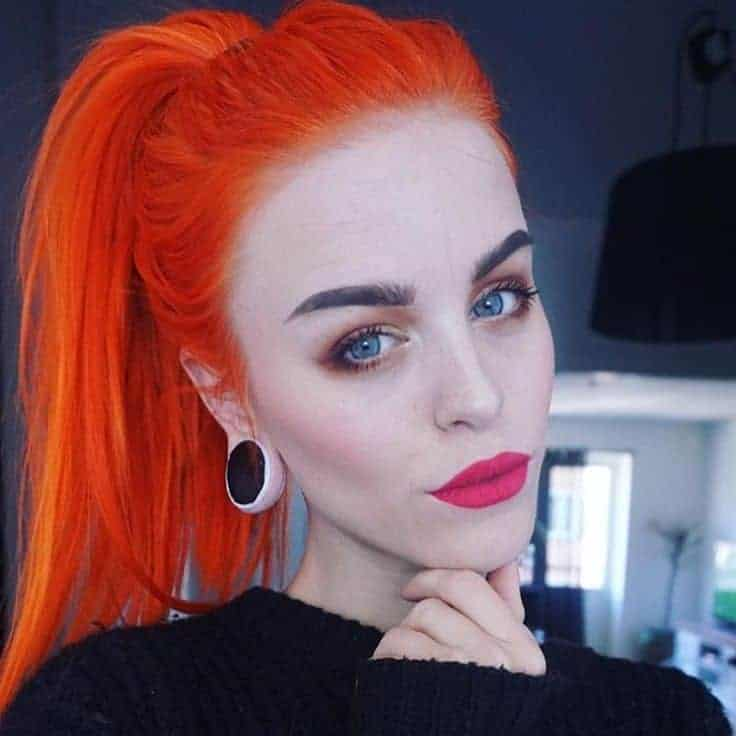 7 Vivid As The Sunset Red Orange Hair Color Blends