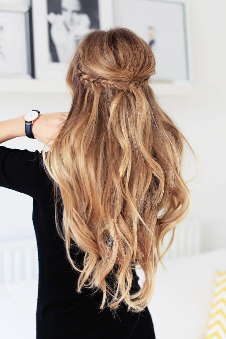 Half ponytail 22 unique ideas for 2017 hairstylecamp braid half ponytail hairstyle for girl urmus Choice Image
