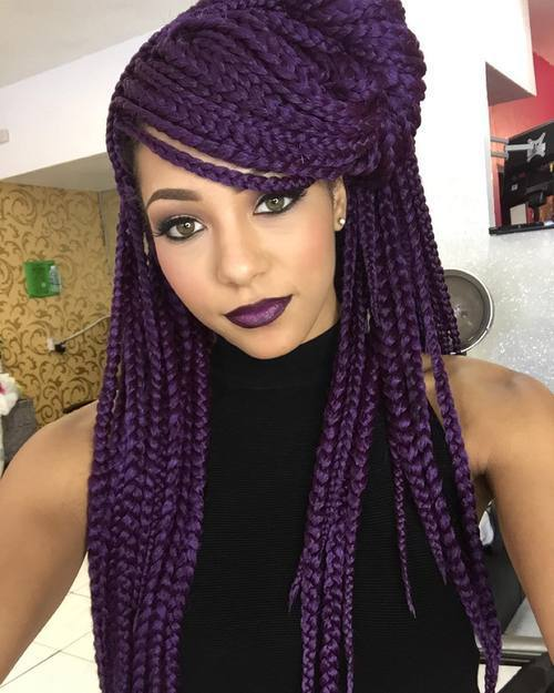 10 Epic Colorful Box Braids To Spice It Up Hairstylecamp